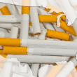 Stock Photo: Map of USA with cigarettes in background