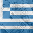 Flag of Greece with transparent euro banknotes in background — Stock Photo #6692180