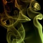Smoke on black background — Stock Photo