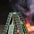 Burning random access memory — Stock Photo #6239362