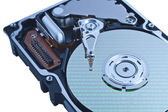 Hard disk drive in close up — Stock Photo