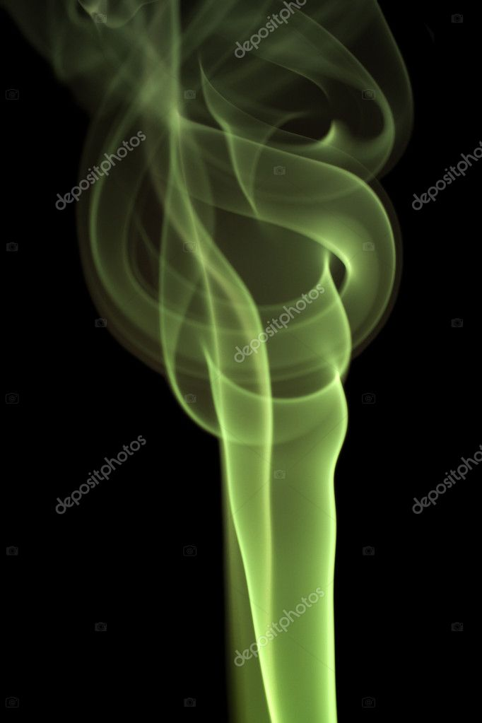 Smoke on black background with nice fancy wave patterns. Useful for abstract backgrounds — Stock Photo #6238201