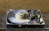 Dead hard drive in close up — Stock Photo