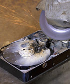 Destroyed hard drive — Stock Photo