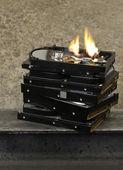 Burning hard drive — Stock Photo