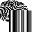 Fingerprint and barcode - Stock Photo