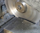 Circular saw in close up — Stock Photo