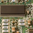Stock Photo: Memory chip and other electronic components