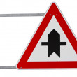 German right of way sign (clipping path included) — Stock Photo