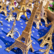Miniature Eiffel Tower Souvenirs Selling in Market, Paris, Franc - Stock Photo