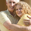 Senior Man and Woman Couple Hugging and Happy Together — Stock Photo #6319777