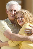 Senior Man and Woman Couple Hugging and Happy Together — Stock Photo