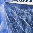 HDR Photograph Of Modern Office Building Skyscraper & Clouds — Stock Photo
