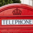 Stock Photo: Close up of Classic London Red Telephone Box