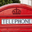 Close up of Classic London Red Telephone Box — Stock Photo