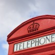 Close up of Classic London Red Telephone Box — Stock Photo #6469907