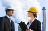 Industrial Teamwork — Stock Photo