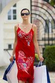 Shopping European Style — Stock Photo