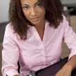 Beautiful Mixed Race African American Female Student or Business — Foto de Stock