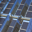 Close Up Renewable Green Energy Photovoltaic Solar Panel — Stock Photo