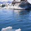 schmelzende Gletscher Eisberge in der Lagune, Jokulsarlon, Island — Stockfoto