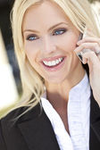 Beautiful Woman on Cell Phone — Stock Photo