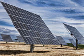 HDR Photograph of Green Energy Photovoltaic Solar Panels — Stock Photo
