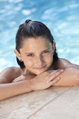 Happy Girl Child In Swimming Pool — Stock Photo