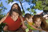 Happy Family Having Fun Outside In Park — Stock Photo