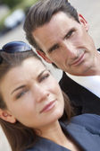 Portrait of Handsome Middle Aged Man and Woman Couple — Stock Photo