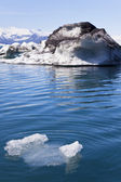 Melting Glacial Icebergs in the Lagoon, Jokulsarlon, Iceland — Stock Photo