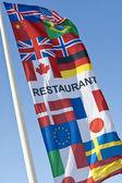 Generic Multi National Restaurant Flag — Stockfoto