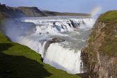 Rainbow Over Gullfoss Waterfall Iceland — Stock Photo
