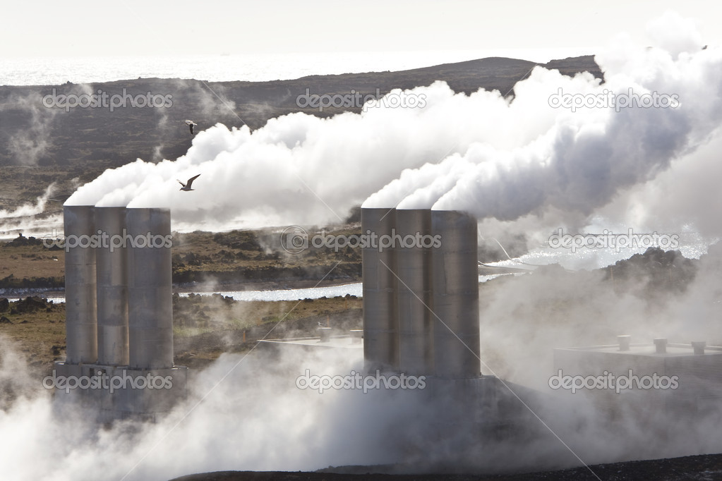 Geothermal power station in Iceland in a volcanic region of Iceland. — Stock Photo #6479959