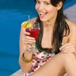 Fun By The Pool — Stock Photo
