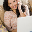 Royalty-Free Stock Photo: Communicating Latin Beauty