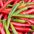 Red & Green Chillies For Sale in Market — Stock Photo