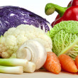 Selection of Organic Vegetables Isolated on White Background — Stock Photo #6482006