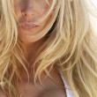 Beautiful Sensual Blond Woman Close Up Portrait — Stock Photo