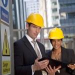Executive Construction Team — Stock Photo