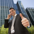 Positive Businessman — Stock Photo