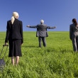 Business Travellers Find What They Are Looking For — Stock Photo