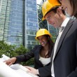 Executive Construction Team — Stock Photo