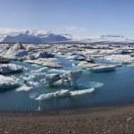 冰山填补泻湖、 jokulsarlon、 冰岛 — 图库照片