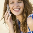 Stock Photo: Laughing Phone Call