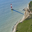 Stock Photo: Aerial Photograph of Lighthouse at Beachy Head, East Sussex, Eng
