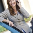 Portrait of Beautiful Woman or Businesswoman On Her Cell Phone — Stock Photo