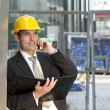 Construction Site Manager — Stock Photo