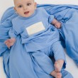 Stock Photo: Baby in Blue Pajamas