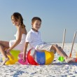 Children, Boy and Girl, Playing On a Beach — Stock Photo